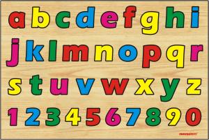 Puzzle huruf kecil angka